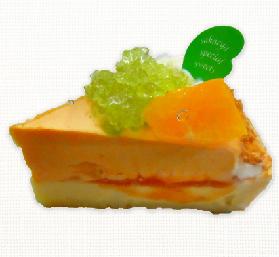 キラキラオレンジチーズタルト