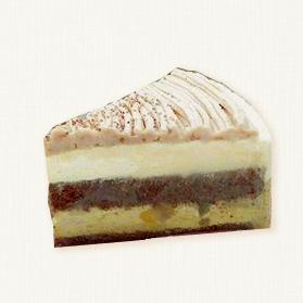 鳴門金時と栗のケーキ