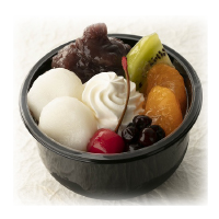 北海道産小豆使用フルーツ白玉あんみつ